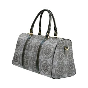 Stella Saksa Bags - Medallion Skulls Canvas Small Duffel Travel Bag